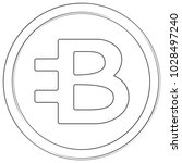 bytecoin   cryptocurrency coin. ... | Shutterstock .eps vector #1028497240