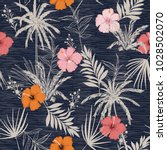 trendy summer hawaii print... | Shutterstock .eps vector #1028502070