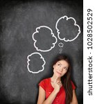think bubble student woman... | Shutterstock . vector #1028502529
