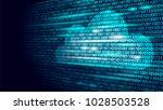 cloud computing online storage... | Shutterstock .eps vector #1028503528