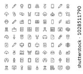 e learning icon set. collection ... | Shutterstock .eps vector #1028511790