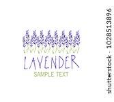 lavender flower. logo design.... | Shutterstock .eps vector #1028513896