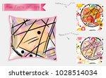 interior design textile... | Shutterstock .eps vector #1028514034