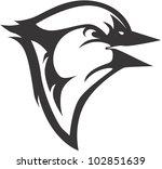 creative blue jay illustration   Shutterstock .eps vector #102851639