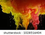 acrylic colors in water. ink... | Shutterstock . vector #1028516404
