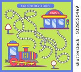 find the right path from train...   Shutterstock .eps vector #1028520469
