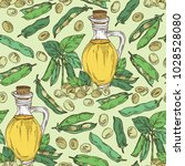 seamless pattern with bottle of ... | Shutterstock .eps vector #1028528080