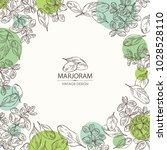 background with marjoram.... | Shutterstock .eps vector #1028528110
