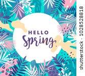 hello spring banner. vector...   Shutterstock .eps vector #1028528818