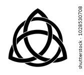 black triquetra ornament   Shutterstock .eps vector #1028530708