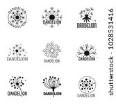 taraxacum icons set. simple set ... | Shutterstock .eps vector #1028531416
