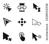clicking icons set. simple set... | Shutterstock .eps vector #1028533558