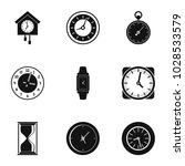 clock icons set. simple set of... | Shutterstock .eps vector #1028533579