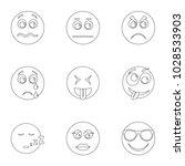 visage icons set. outline set... | Shutterstock .eps vector #1028533903