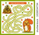 find the right path from... | Shutterstock .eps vector #1028534734