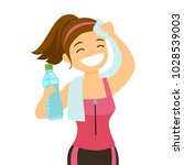 young caucasian white sporty... | Shutterstock .eps vector #1028539003