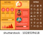 fast food infographic template  ... | Shutterstock .eps vector #1028539618
