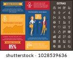 human resource infographic...   Shutterstock .eps vector #1028539636