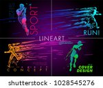 art concept of a running man.... | Shutterstock .eps vector #1028545276