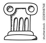 doodle icon design of rostrum | Shutterstock .eps vector #1028548768