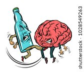 alcoholism destroys the brain ... | Shutterstock .eps vector #1028549263