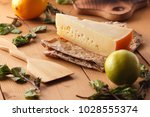 hard cheese  lemon  lime and... | Shutterstock . vector #1028555374