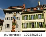 lady justice statue in lausanne ... | Shutterstock . vector #1028562826