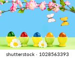 Five Colorful Easter Eggs In...