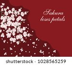 sakura. greeting card. a lush... | Shutterstock .eps vector #1028565259