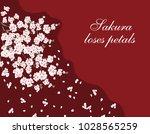 sakura. greeting card. a lush... | Shutterstock .eps vector #1028565259