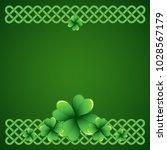 rich green saint patrick's day...   Shutterstock .eps vector #1028567179