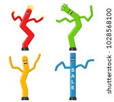 dancing inflatable tube man set ... | Shutterstock .eps vector #1028568100