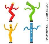 dancing inflatable tube man set ... | Shutterstock .eps vector #1028568100