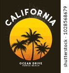 california sunset t shirt... | Shutterstock .eps vector #1028568679