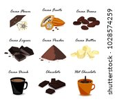 super food cocoa collection.... | Shutterstock .eps vector #1028574259