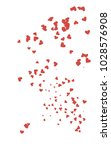 light red vertical hearts... | Shutterstock . vector #1028576908