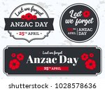 anzac day illustration with... | Shutterstock .eps vector #1028578636