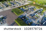 aerial photo cemetery or... | Shutterstock . vector #1028578726