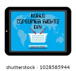 world consumer rights day theme....   Shutterstock .eps vector #1028585944