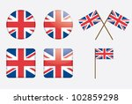 badges with united kingdom flag ... | Shutterstock . vector #102859298