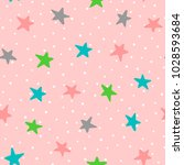 cute seamless pattern with... | Shutterstock .eps vector #1028593684