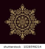 ornamental vector rosette on...   Shutterstock .eps vector #1028598214