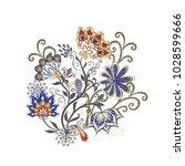 bouquet of fantastic flowers.... | Shutterstock .eps vector #1028599666