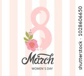 8 march   international women's ... | Shutterstock .eps vector #1028606650