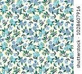 vintage floral background.... | Shutterstock .eps vector #1028607916