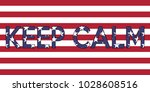 Illustration Of Usa Flag With...