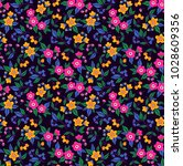 cute floral pattern in the... | Shutterstock .eps vector #1028609356