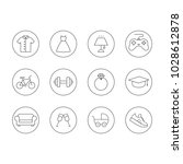 occasions icon set | Shutterstock .eps vector #1028612878