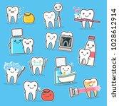 healthy teeth care treatment... | Shutterstock .eps vector #1028612914