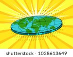 flat earth with nature...   Shutterstock .eps vector #1028613649